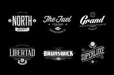 Badges & Logos Vol.04 by Easybrandz, via Behance