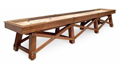 The Loft Shuffleboard Table is one of the finest shuffleboard tables made today, with an original design inspired by the rafters in our manufacturing plant. Available in and sizes to fit your room. Game Room Furniture, Shuffleboard Table, Be Design, Easter Table Decorations, Table Games, Game Tables, Antique Decor, California Homes, House Made