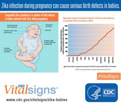 Zika virus infection during pregnancy can lead to congenital Zika syndrome, a pattern of birth defects in babies that includes brain defects, vision problems, and hearing loss. Learn more about the effects Zika could have on babies in the latest Vital Signs.