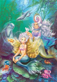 Flash Magic: Látogatás Fairy Tales - Part Artist Zorina Baldescu. Fantasy Mermaids, Unicorns And Mermaids, Mermaids And Mermen, Mermaid Wall Art, Mermaid Fairy, Fairy Tale Images, Mermaid Kisses, Mermaid Pictures, Delphine