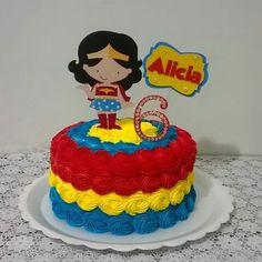 Wonder Woman Birthday Cake, Wonder Woman Cake, Wonder Woman Party, Girl Superhero Party, Superhero Cake, Party Treats, Party Cakes, Supergirl Cakes, Fondant Girl