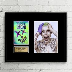Suicide Squad Poster Set Movie Greats TREBLE CANVAS WALL ART Picture Print