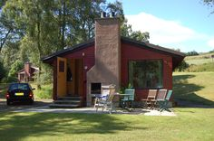 Our cabin/lodge we rented in Scotland