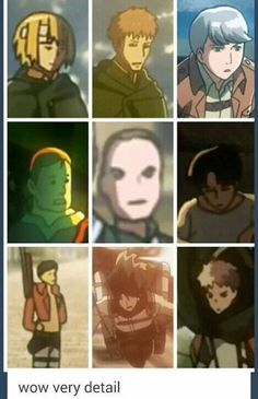 ((Yes, Attack on Titan is very good at art when it comes to the details for background characters.)) Armin so kkkkhhh cant stop laughing Anime Meme, Girls Anime, Funny Anime Pics, Anime Manga, Anime Art, Armin, Attack On Titan Meme, Videos Anime, 8bit Art