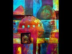 Acrylmalerei Techniken Strukturen mit der Rakel - YouTube