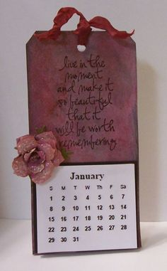 Crafting with OWSE: Technique Tuesday ~ Easel Calendar