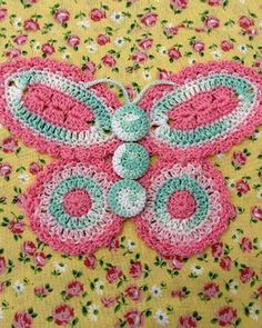 BC003 - Grandmama's Favorite Decorative Potholders and Hot Pads Download - Butterfly