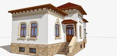 A Romanian style Art Nouveau, Little Cottages, Byzantine, Home Fashion, Romania, Ottoman, Rustic, Mansions, House Styles