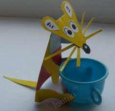 Art activities for kids. A Little Mouse - a craft from cardboard and color paper