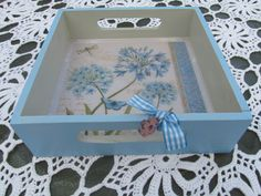 Decoupage Box, Tea Tray, Wood Tray, Christmas Printables, Painting On Wood, Quilling, Stencil, Diy And Crafts, Diy Projects