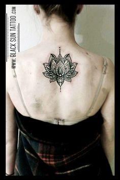 Tattoo by Black Sun Tattoo, Warsaw, Poland #dotworktattoo #mandala #mandaladotwork #lotus #lotusdotwork #lotustattoo #womenstattoo #blacksuntattoo
