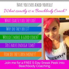 Have You Ever Wanted to be a Beachbody Coach? FREE 5-Day Sneak Peek | Terri DeVore