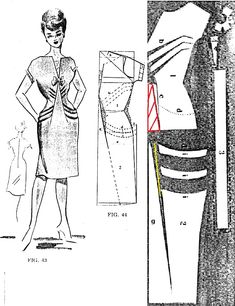 Would like to use the bodice of this dress pattern and add a different skirt ~ perhaps take this skirt and slash pattern to give it a flared skirt...... other patterns here that do that plus on my board, Stitching ~ Tips & Tutorials for anyone interested, there are instructions there for slashing patterns.......