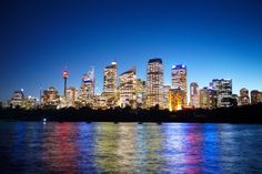 Photo about Sydney CBD area taken at nite from the harbour side. Image of city, sydney, structure - 26904458 Concrete Jungle, Sydney, New York Skyline, Cool Photos, Royalty Free Stock Photos, Australia, City, Sales Office, Skyscrapers