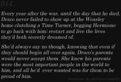 Dramione Headcanon  I need to read a Dramione of Draco time-travelling.