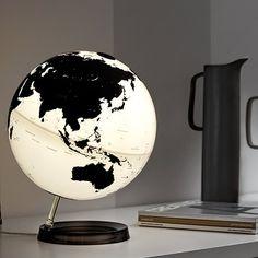 Leuchtglobus - Schwarz/Weiß von ATMOSPHERE für Räthgloben | MONOQI
