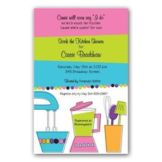 Kitchen cooking theme bridal wedding shower invitation with rsvp off unique bridal shower invitations to fit your style show now for wedding shower invitations filmwisefo