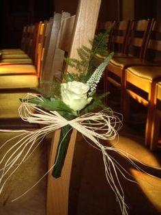 Décoration église pour mariage.