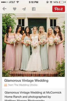 Bridesmaid dresses! Style and color thumbs up.