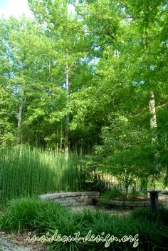 The memorial fits in perfectly with it's natural surrounding and is low maintenance. - Inside Out Design
