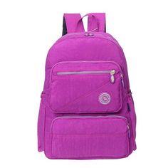Women Nylon Backpack Travel Bag Durable Sport Backpack