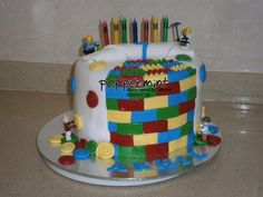 #Peppermint Lego Birthday Cake Lego Birthday, Birthday Cake, Peppermint Cake, Cakes, Desserts, Food, Tailgate Desserts, Birthday Cakes, Deserts