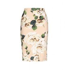 Dolce & Gabbana Print Pencil Skirt
