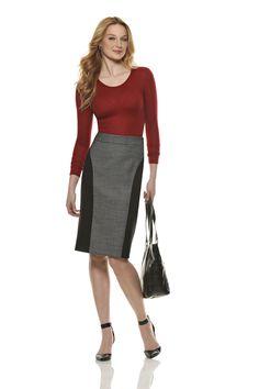 NL6312 Misses' Slim Skirt in Two Lengths