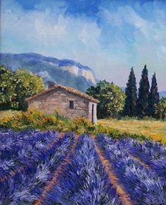 Oliviers les oliviers jean marc janiaczyk peinture au couteau oliviers - Peinture couleur lavande ...