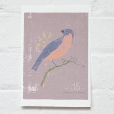 Finch - A5 Print. £8.00, via Etsy.