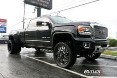 GMC Denali Dually with Fuel Triton Wheels exclusively from Butler Tires and Wheels in Atlanta, GA - Image Number 11219 Jacked Up Trucks, Dually Trucks, Gm Trucks, Chevy 4x4, Lifted Chevy, Chevrolet Trucks, Dually Wheels, Dually Rims, Diesel Pickup Trucks