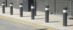 Scimitar 75/50 PAS68 Bollards are passive static bollards that sit fixed in the ground, they have been crash tested to PAS 68 Glasgow Airport, How To Level Ground, Avon