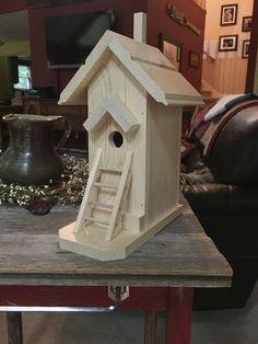birdhouse with ladder