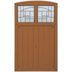 3-1/2 Ft. X 5-3/4 Ft. Cedar Fence Gate With Faux Glass