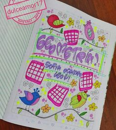 School Notebooks, Decorate Notebook, Salvador, Zentangle, Bullet Journal, Teen, Lettering, Cool Stuff, My Love