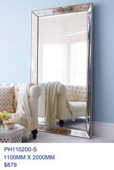 A beautiful art deco style glass mirror with bevelled edges This is a quality attention grabbing mirror that will look stunning in a classical, modern or ..., 1116061473