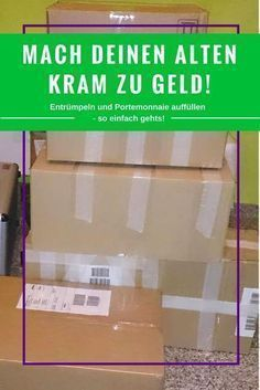 Gebrauchte Sachen verkaufen – So machst Du alten Kram zu Geld Selling used things – Tips for success when clearing out and a wallet filled with it!
