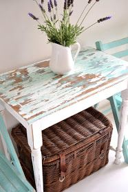 Paint Me White: Beachy Side table and garden chairs