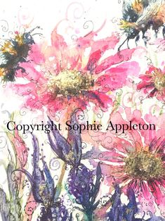 Flower paintings by Artist Sophie Appleton Floral Art www.sixfootsophie.co.uk