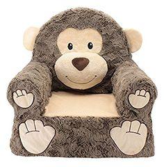 Sweet Seats Monkey Plush, Brown, One Size