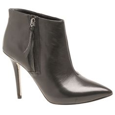 The boutique 9  jarring from Nine West! a cute black leather pointy toe bootie!