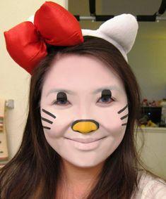 Cute Kitty Halloween Makeup Ideas