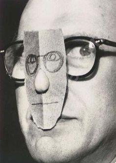 Saul Steinberg. Foto de Magnum por Inge Morath.