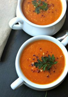 Red Lentil Coconut Soup is a warm, rich soup full of spice. Let this soup simmer on the stove and your house will smell wonderful. This soup makes a great freezer friendly meal that tastes just as good a month later.