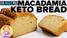 Keto Macadamia Bread Recipe - Fat Bread Recipe from The Magic Pill recipes keto netflix documentary Keto Foods, Keto Approved Foods, Ketogenic Recipes, Low Carb Recipes, Bread Recipes, Keto Snacks, Vegan Recipes, Primal Recipes, Keto Desserts