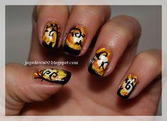 Fancy DIY Halloween Nails: http://jagodowa00.blogspot.com/2014/10/halloween.html