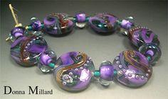 SRA HANDMADE LAMPWORK Bead Set by Donna Millard,