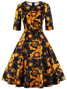 Babyonline Gold Floral Halloween Costumes 1920s Inspired Vintage Costumes -- Awesome products selected by Anna Churchill