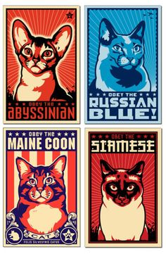 Shepard Fairey Cat Stamps More
