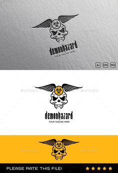 Skull Logo by Exe-Design Font used: - biohazard Files included: - vector file - AI, EPS, PSD